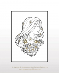 Ink and Gold - Lady of April