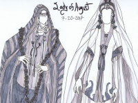Lady of August Fashion Design Sketches