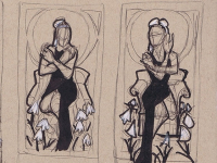 Lady of January Thumbnail Sketches