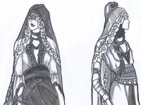 Lady of November Fashion Concept Sketches