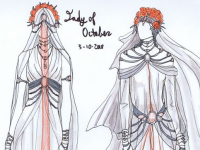 Lady of October Fashion Illustration Sketches