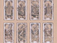 Lady of October Thumbnail Sketches