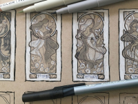 Lady of September Thumbnail Sketches
